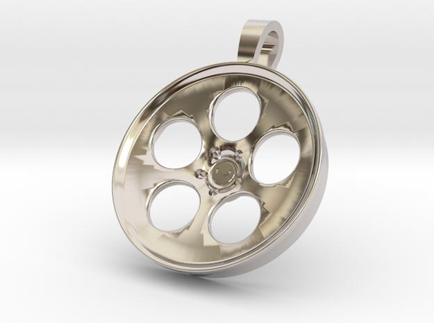 Vossen LC103 KeyChain Pendant 35mm in Rhodium Plated Brass