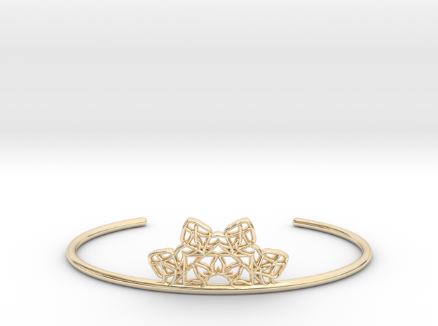 Half Mandala Cuff - small in 14k Gold Plated Brass