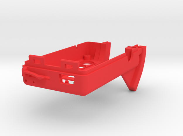Mobius Case - Top 0-90° in Red Processed Versatile Plastic