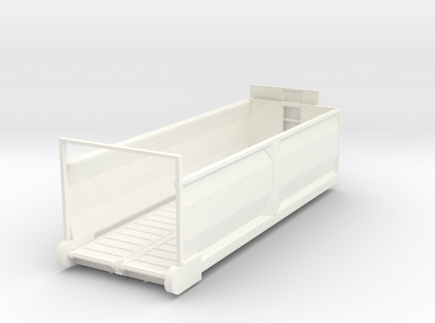 1/64 Diller Silage box 24' in White Strong & Flexible Polished