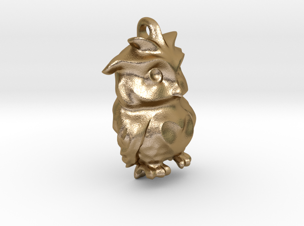 Love Owl is sad :( in Polished Gold Steel