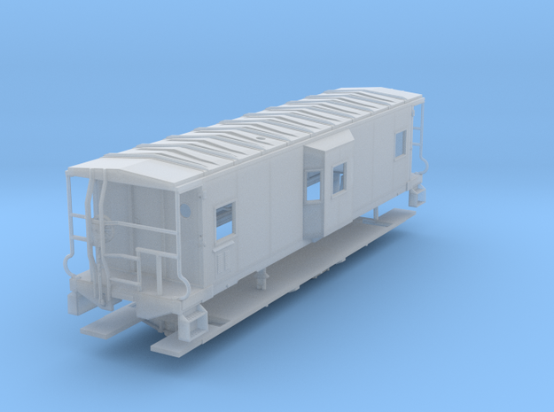 Sou Ry. bay window caboose - Gantt - S scale in Smooth Fine Detail Plastic