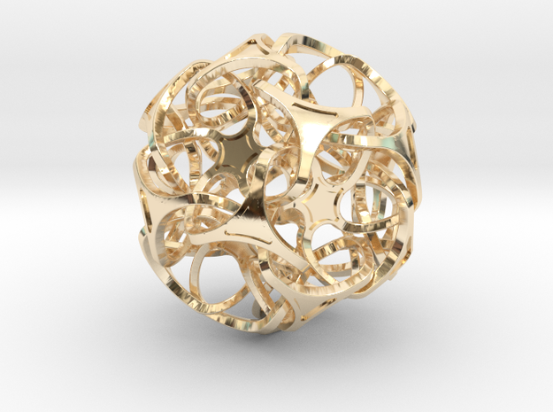 DODECA  ICOSA 75mm in 14K Yellow Gold