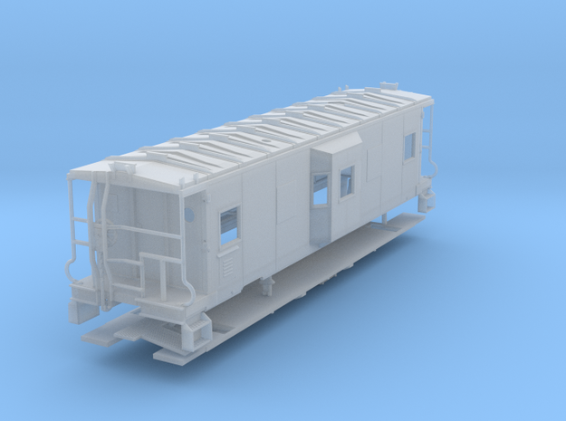 Sou Ry. bay window caboose - mod. Hayne - HO scale in Smooth Fine Detail Plastic