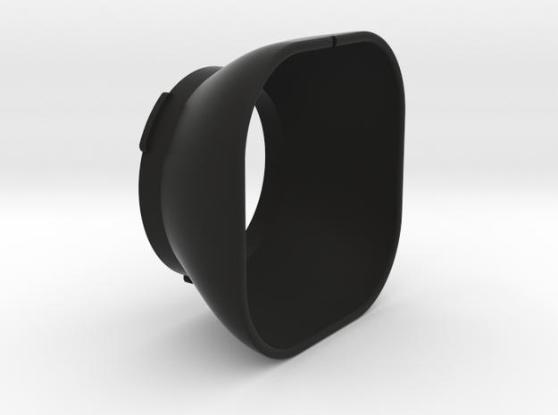 Lens Hood Bay I for Rolleiflex in Black Natural Versatile Plastic