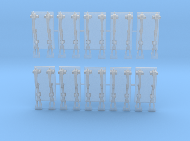1/18 scale Spanner Wrench Set in Smoothest Fine Detail Plastic