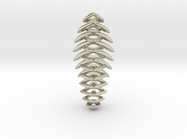 """""""string attached"""" pendant 3d printed"""