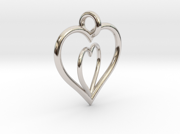 Love Hearts in Rhodium Plated