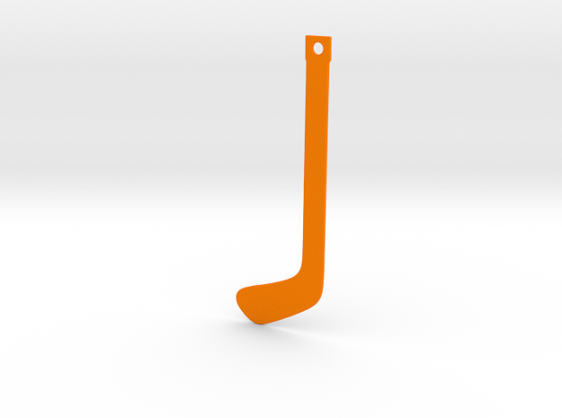 DRAW bookmark - hockey stick in Orange Processed Versatile Plastic