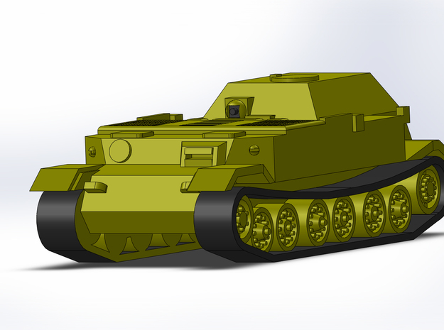 Bergepanzer Tiger P 1/285 /6mm 3d printed