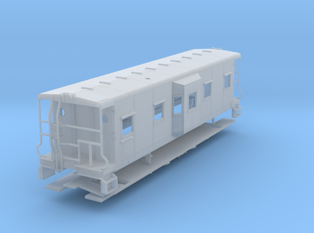 Sou Ry. bay window caboose - Round roof - S scale in Frosted Ultra Detail