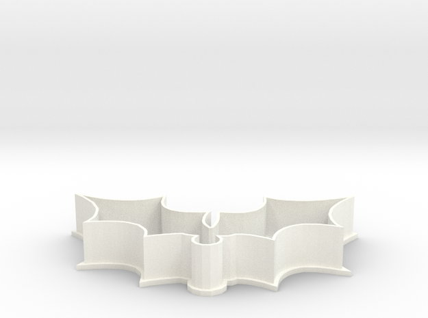 Mistletoe cookie cutter in White Processed Versatile Plastic