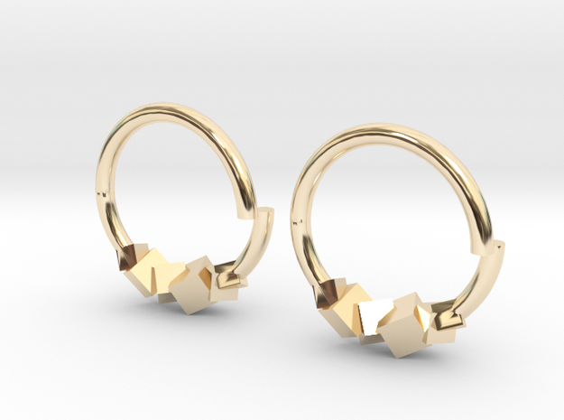 Cubic Earring in 14K Yellow Gold