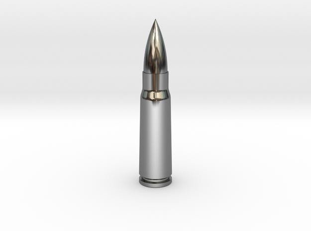 7.62x39 Ammo Blank in Premium Silver