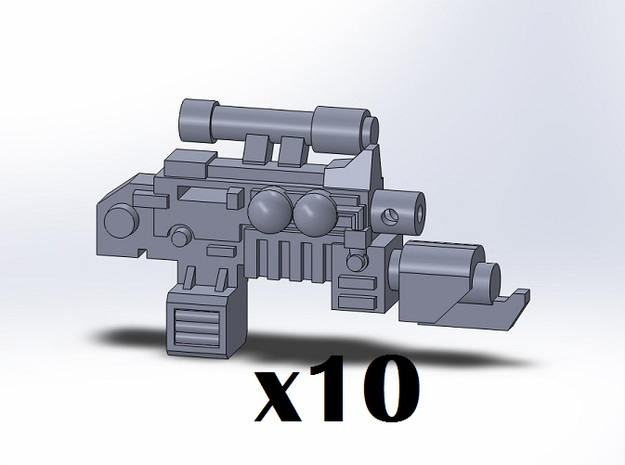 10x Flamer Combination Weapons in Smooth Fine Detail Plastic
