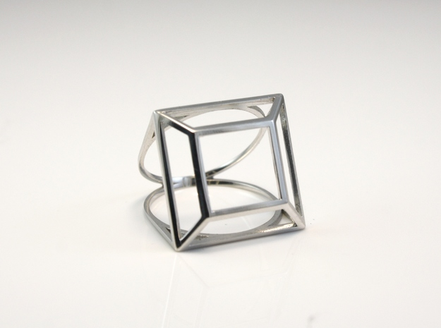Princess Simple Wire Ring - US Size 07 in Rhodium Plated Brass