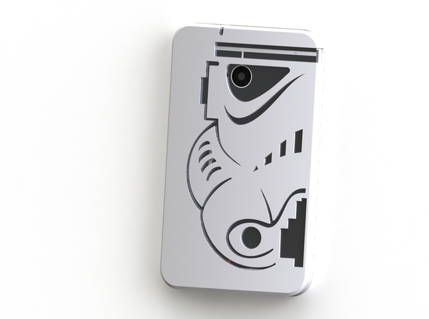 HTC One Case - Stormtrooper (M7) in White Strong & Flexible Polished