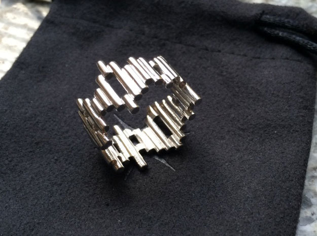 Ring Sticks 2 in Rhodium Plated