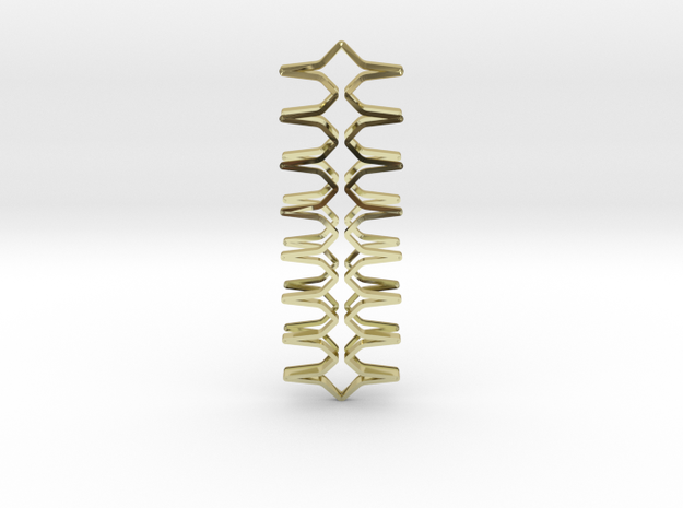 YOUNIC Fabric, Straight Pendant, R Profile in 18k Gold Plated Brass