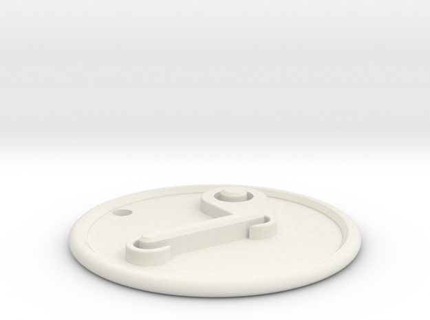 Steam Pendant in White Natural Versatile Plastic