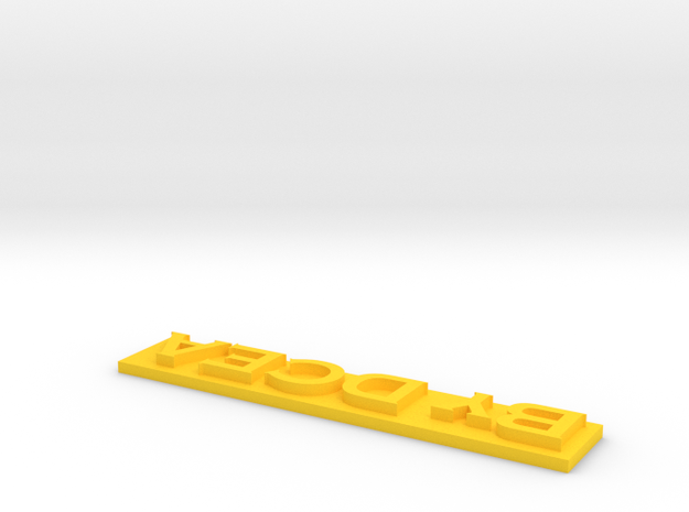 Tracker Lettrage 2 in Yellow Processed Versatile Plastic