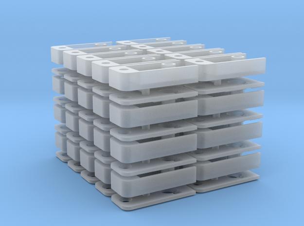 Medium Draft Coupler Box (N -1:160) 40X in Smooth Fine Detail Plastic