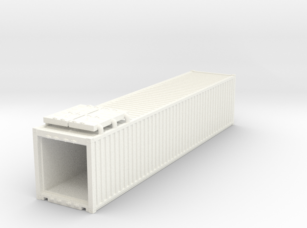 40' Container.HO Scale (1:87) in White Processed Versatile Plastic