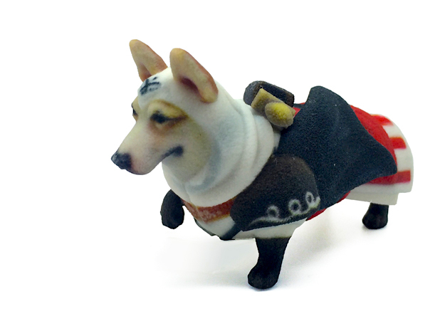 Assassin's Corgi in Full Color Sandstone