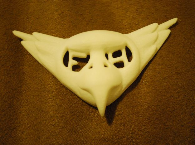 FLYHIGH: Womens Bird Pendant 3d printed FLYHIGH: Womens Bird Pendant shown in White Strong & Flexible Plastic