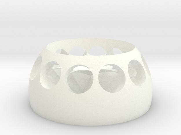菸灰缸 in White Strong & Flexible Polished