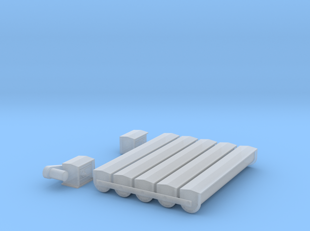 "'HO Scale' - 12"" Round Bottom Conveyor in Smooth Fine Detail Plastic"