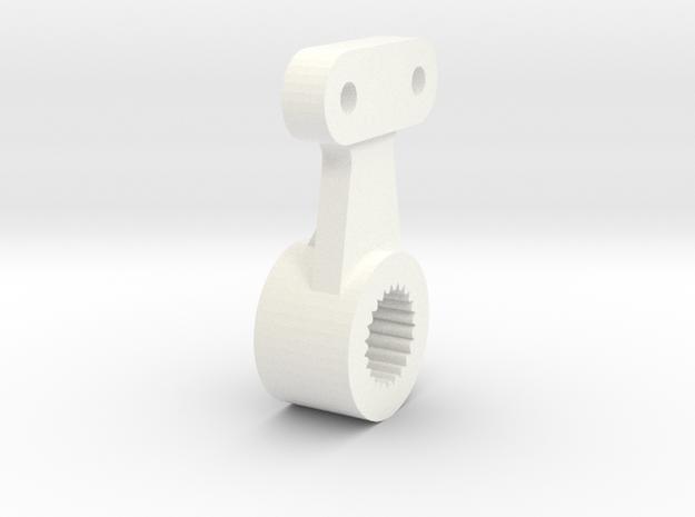Atomic AMZ 2wd servohorn for metal gear servo in White Processed Versatile Plastic
