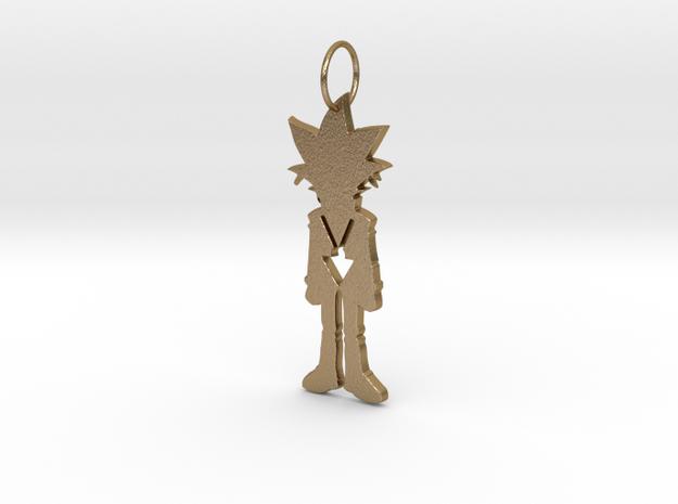 Yugi Pendant in Polished Gold Steel