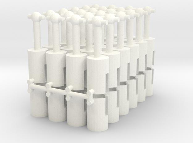 Cardan shaft, 12mm long, for 1.5mm motor shaft in White Processed Versatile Plastic