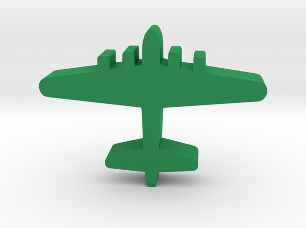 Game Piece, WW2 B-17 Bomber in Green Processed Versatile Plastic