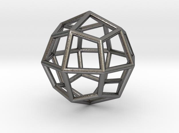 0313 Deltoidal Icositetrahedron E (a=1cm) #001 in Polished Nickel Steel