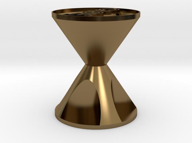 CASE個性沙漏飾品 in Polished Bronze