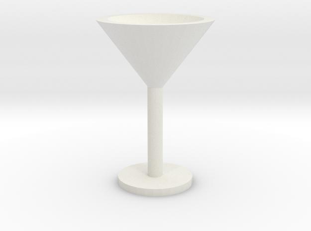 Martini glass mini in White Natural Versatile Plastic