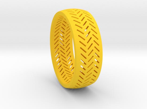 Herringbone Ring Size 16 in Yellow Processed Versatile Plastic