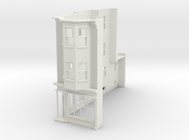 WEST PHILLY 3S ROW STORE CORNER L 87 Brick in White Natural Versatile Plastic