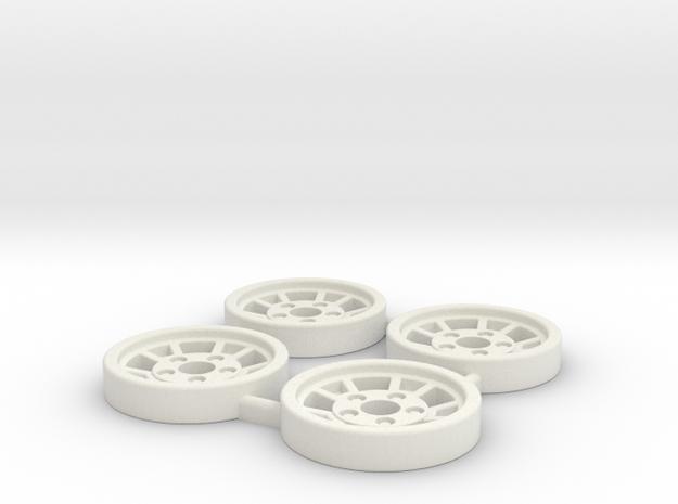 Tapacubos Lancia Stratos modelo A in White Natural Versatile Plastic