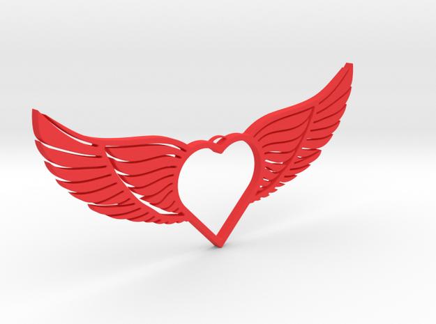 Wing 01 in Red Processed Versatile Plastic