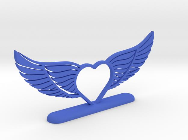 Wing 02 in Blue Processed Versatile Plastic