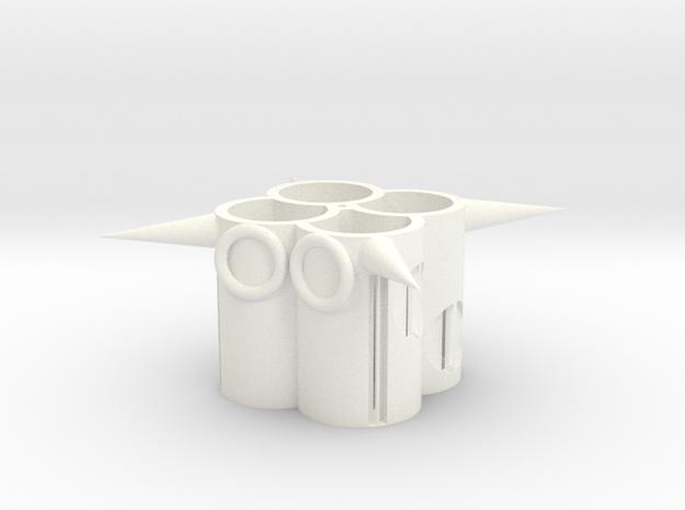 104102310筆筒(2) in White Strong & Flexible Polished