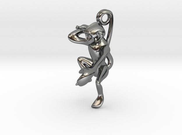 3D-Monkeys 040 in Fine Detail Polished Silver
