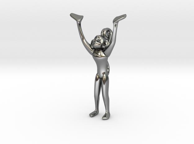 3D-Monkeys 065 in Fine Detail Polished Silver
