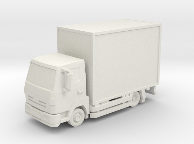 Truck 01. N Scale (1:160) in White Strong & Flexible