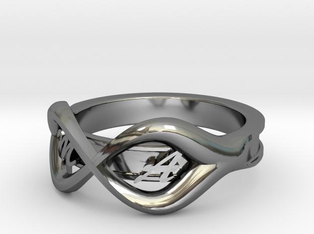 Ring M+A in Premium Silver