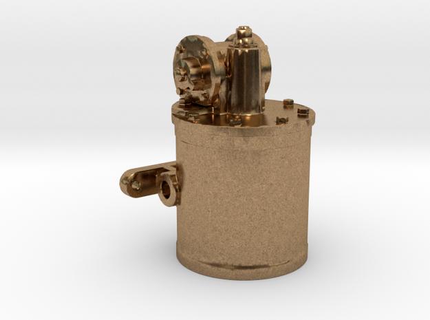 Air Pump - 8 In. - Top REV .625 Plus 1% in Natural Brass