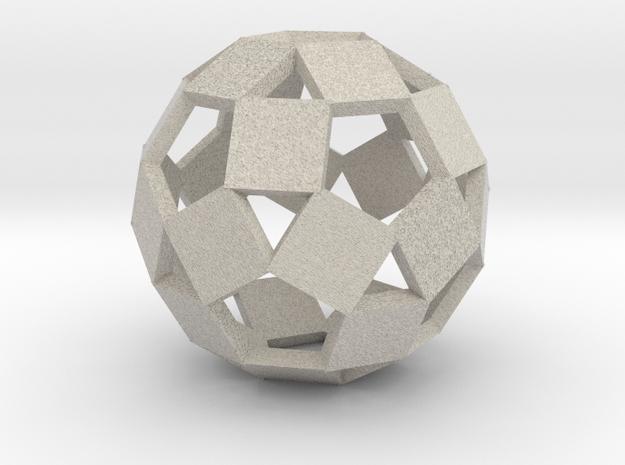 Open Rhombicosadodecahedron-Sandstone in Natural Sandstone